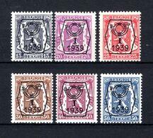PRE405/410 MNH** 1939 - Klein Staatswapen I Opdruk Type B - REEKS 13 - Typografisch 1936-51 (Klein Staatswapen)