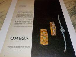 ANCIENNE PUBLICITE UNE REUSSITE  MONTRE OMEGA 1958 - Bijoux & Horlogerie