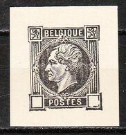 Essai Leopold Ier Non Dentelé En Noir - MNG - Pour Spécialiste - LOOK!!!! - Proofs & Reprints