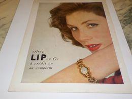 ANCIENNE PUBLICITE OFFREZ MONTRE LIP  1954 - Bijoux & Horlogerie