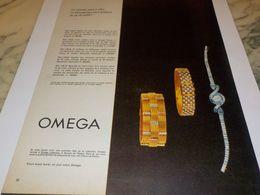 ANCIENNE PUBLICITE SA REUSSITE   MONTRE OMEGA 1958 - Bijoux & Horlogerie