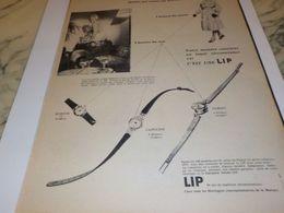 ANCIENNE PUBLICITE MONTRE C EST UNE LIP  1959 - Bijoux & Horlogerie