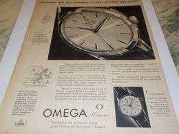 ANCIENNE PUBLICITE LA 30MM   MONTRE OMEGA 1958 - Bijoux & Horlogerie