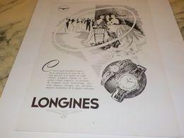 ANCIENNE PUBLICITE CERCLE MONDIAL MONTRE LONGINES  1955 - Bijoux & Horlogerie