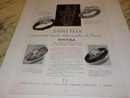 ANCIENNE PUBLICITE SAINT ELOI VOUS PRESENTE MONTRE OMEGA  1955 - Bijoux & Horlogerie