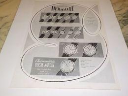 ANCIENNE PUBLICITE MONTRES DERMONT 1955 - Bijoux & Horlogerie