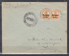 Brief Van O.L.V.Thielt (sterstempel) Naar Louvain Gepruft - Guerre 14-18