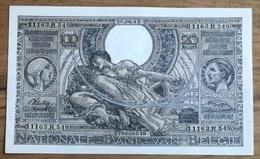 100 Francs Vloors UNC 1943 Vlaams - Frans Donkergrijze Drukkleur!! 6549 - [ 2] 1831-... : Regno Del Belgio