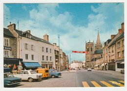 50 LA HAYE DU PUITS Vers Barneville La Place En 1975 Bazar Boucherie R. Noël PUB LIP Renault 4L Camionnette Peugeot 404 - Barneville