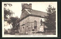 CPA Bessoncourt, L'Eglise Et Le Monument Des Morts - Ohne Zuordnung