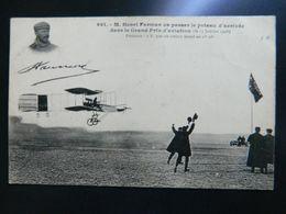 HENRI FARMANN VA PASSER LE POTEAU D'ARRIVEE DANS LE GRAND PRIX D'AVIATION 1908 - Aviateurs