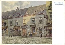 Artiste Cp Blaha, Hans, Wien 9 Alsergrund Österreich, Nußdorfer Str., Geburtshaus Franz Schubert - Vienna