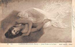 20-8826 : JEUNE FEMME SUR LA DUNE. PAR PIERRE CARRIER BELLEUSE - Paintings