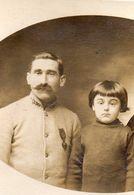 Guerre 14/18 PHOTO Soldat Joseph Monsallier Et Son Fils Jean - Guerra 1914-18
