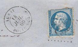Monbihan :  Cad  T15 Auray Boîte Mobile 1866 /LAC Port Maria, N° 22 (déf) O. GC 233,  RRR. Ind 20 (3 Scans) - 1849-1876: Periodo Classico