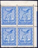 KINGDOM JUGOSLAVIA - AIRMAIL  OPLENAC  Bl. Of 4x - **MNH - 1934 - Poste Aérienne
