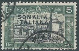 1927 SOMALIA USATO MILIZIA 5 LIRE - CZ18-10 - Somalia