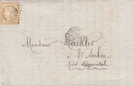 LETTRE. 29 OCT 75. N° 55. ROUEN GARE POUR ST AUBIN - 1849-1876: Période Classique