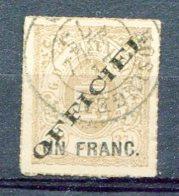 LUX 1875 SE Yv. N° 9   (o)  1f S 27 1/2c  Lbistre  Cachet 1875  Cote  27,50 Euro BE  R  2 Scans - Service