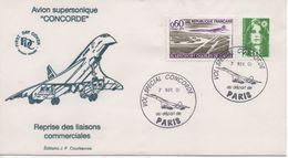 Enveloppe Vol Spécial Concorde - 7 NOV 01 - PARIS - 2000-2009
