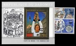 1974, Dahomey, 574-75 U.a., ** - Benin – Dahomey (1960-...)