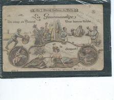Théme-Militaria-Humour -Les 7 Pechés Capitaux Du POILU*-LA GOURMANDISE-Pinard-TABLE FEMME Au DESSERT - Humoristiques