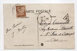 - Carte Postale VALENCIENNES Pour Saint-Leu-d'Esserent 10.6.1919 - TAXÉE 10 C. Brun Type Duval - - 1859-1955 Briefe & Dokumente