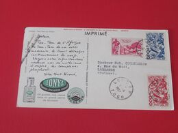 Carte Commerçiale Pharmaceutique Ionyl Togo Tam - Tam Du Diable - Pharmacy