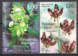 Bosnien - Herzegowina Croat. (2014)  Mi.Nr.  396 + 397  Gest. / Used  (11ga21) - Bosnie-Herzegovine