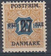 +M485. Denmark 1918. 27 øre Surprint. Michel 96x. MNH(**) - 1913-47 (Christian X)
