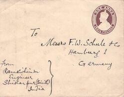 INDIA - ENVELOPE 1 ANNA SHIKARPUR - HAMBURG //ak674 - 1911-35  George V