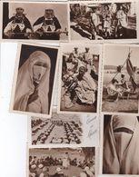 Maroc : Lot De 8 Photos à Situer ,conteur D'histoire,femme Voilée,Berbères Du Souk,coiffeur,.... - Altri