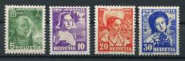 Schweiz-Switzerland-Suisse: Pro Juventute Mi 306-309 1936 ** Postfrisch / MNH / Neuf - Nuevos