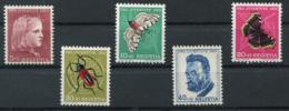 Schweiz-Switzerland-Suisse: Pro Juventute Mi 588-592 1953 ** Postfrisch / MNH / Neuf - Nuevos