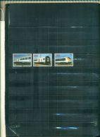 BELGIQUE TIMBRES DE CHEMIN DE FER 97 TRAINS MODERNES 3 VAL NEUFS A PARTIR DE 3 EUROS - Railway