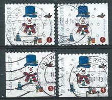 België OBP Nr: 4192 + 4192c Gestempeld / Oblitérés - Kerstmis En Nieuwjaar - Belgique