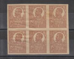 Romania  Michel # 254 Y *  6-er Bogen  Geschnitten  Abarten? - 1918-1948 Ferdinand, Charles II & Michael