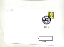 Lettre Cachet  Londres Anniversaire WWII - Marcophilie - EMA (Empreintes Machines)