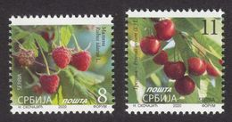 Serbia 2020 Plants Fruits Flora Raspberry Cherry Definitive Stamps MNH - Serbia