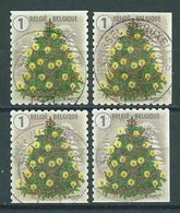 België OBP Nr: 4742 - 4742c Gestempeld / Oblitérés - Kerstmis En Nieuwjaar - Belgique