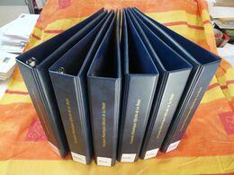 Lot De 6 Classeurs Reliures à Anneaux Pour Documents FDC Officiels De La Poste - Albums & Binders