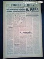 FASCISMO - CORRIERE DI ROMA N° 89 -  2 SETTEMBRE 1944 - IL PAPA PARLA AL MONDO - Guerre 1939-45