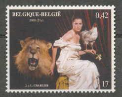[154217]TB//**/Mnh-BELGIQUE 2000 - N° 2940, Belgique éternelle, Jacques Charlier, Art, Peintures - Tableaux, Lion, Coq.S - Art