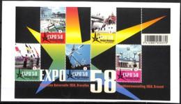 [154886]TB//**/Mnh-Belgique 2008 - BL158, Expo 58, Atomium, Pavillons, Souvenirs, Permanents, SNC - 1958 – Brüssel (Belgien)