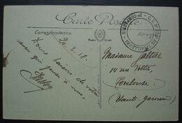 1918 C.I. 5e Régiment De Tirailleurs 2e Compagnie Cachet Sur Carte D'Aix En Provence Pour Toulouse - Guerre De 1914-18