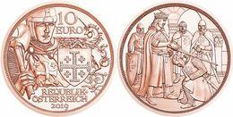 """AUSTRIA  10€  2.019  2019 COBRE/COPPER  """"GODFREY OF BOUILLON""""  SC/UNC   T-DL-12.469 - Autriche"""