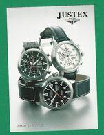 CARTE RESTO VERSO MONTRES PUBLICITAIRES MARQUE SWISS WATCHES JUSTEX SINCE 1969  NEUF - Montres Publicitaires