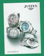 1969 CARTE RESTO VERSO MONTRES PUBLICITAIRES MARQUE SWISS WATCHES JUSTEX SINCE NEUF - Montres Publicitaires