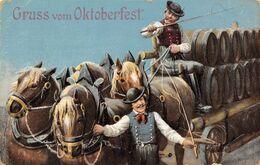 BIERES ET BRASSERIES-GRUSS VOM OKTOBERFEST - Cartoline