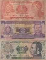 Honduras : Série De 3 Billets 1-2-5 Lempira(s) 2003-2004 Très Mauvais état - Honduras